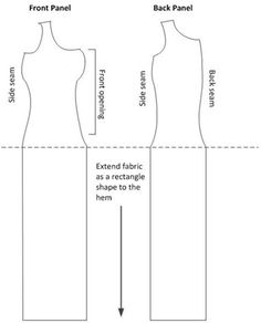 New tutorial lite: Making a dress from your bust-supportive bodice pattern - La cotte simple