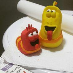 Larva cake toppers