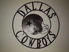 24  DALLAS COWBOYS DECOR METAL ART WESTERN HOME WALL DECOR NEW & Dallas Cowboys Wall Art torched metal wall art metal art 24