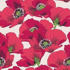 Poppies 2 » patternbank.com/petroulatsipitori #patternbank #newonpatternbank IG: @petroulatsipitori
