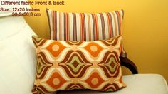 Multi colored lumbar 12x18 pillow cover  Chair sofa by SABDECO, €22.00