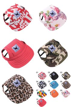 [Visit to Buy] 10 Style Pet Dog Outdoor Baseball Cap Hat With Ear Holes Canvas Small Dog Cap Hat Summer Accessories Hiking High Quality  #Advertisement