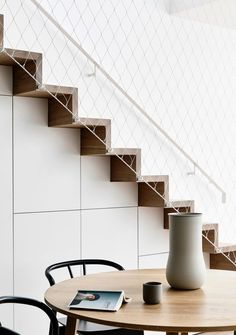 Gallery of The Carlton House / Tom Robertson Architects 14 Understairs Ideas Architects Carlton Gallery House Robertson tom Modern Staircase, Staircase Design, Home Deco, Kitchen Under Stairs, Stairs To Heaven, Carlton House, Stair Detail, Stair Handrail, House Stairs