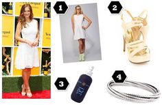 "Guy & Eva's Bree bracelet featured in ""Minka Kelly's Tres Chic Look for Less!"" by The Fashionable Gal"