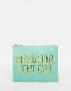 ASOS Mermaid Slogan Make Up Bag