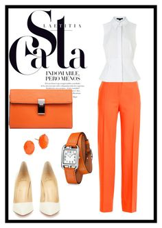 """Orange"" by bonolon on Polyvore featuring Jil Sander, Alexander Wang, Christian Louboutin, Ippolita and Hermès"