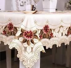 Resultado de imagem para toalhas de mesa bordadas                              …