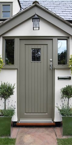 Specialising in timber windows and doors Our timber entrance doors all have maximum protection with minimal maintenance, thanks to their micro-porous coatings. Cottage Front Doors, House Front Porch, Cottage Porch, Porch Doors, Front Porch Design, House Entrance, Entrance Doors, Porch Over Front Door, House Porch Design