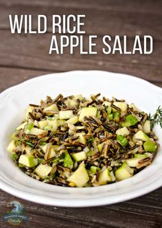 Wild Rice Apple Salad | A fall salad is a very different meal than its ...