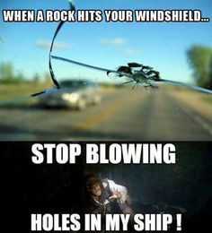 When a rock hits your windshield. Pirates of the Caribbean Jack Sparrow Funny, Jack Sparrow Quotes, Johny Depp, Will Turner, Pirates Of The Caribbean, Stupid Funny Memes, Funny Facts, Movie Facts, Funny Stuff