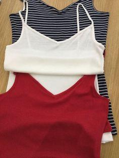 dbe42445cb2 BNWOT TU Womens Size 12 T-Shirt Top Vest Speghetti Straps Red Blue  fashion