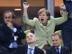 German Chancellor Angela Merkel finally shows some emotion