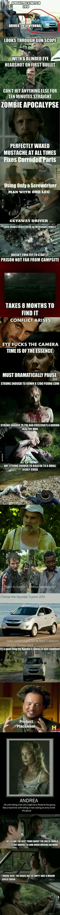 The Walking Dead logic - 9GAG