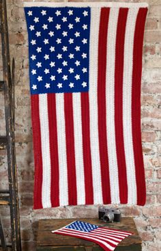 American Pride Crochet Flag Free Crochet Pattern from The Yarn Box