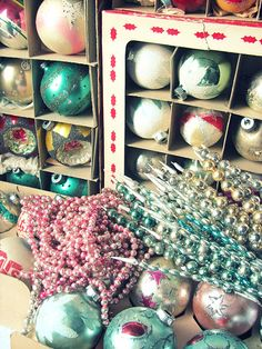 Vintage Christmas ornaments next years trees inspiration