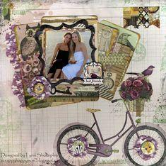 Best Friends Layout Tutorial using Transparent Gel and Beautiful Dreamer by Lynn Shokoples for BoBunny #BoBunny @scrappyhappymom