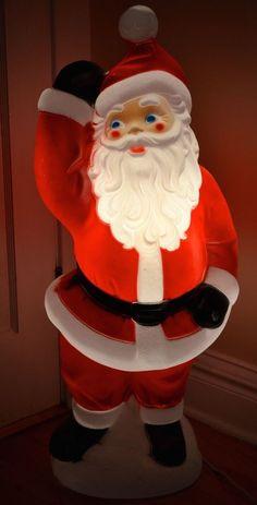 Blow mold plastic yard Santa   Christmas Blow Mold   Christmas, Blow molding, Christmas ornaments