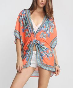Another great find on #zulily! Orange & Blue Arabesque Knot Tunic by Flying Tomato #zulilyfinds