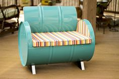 Topsail Turquoise Armchair With Colored Cushion