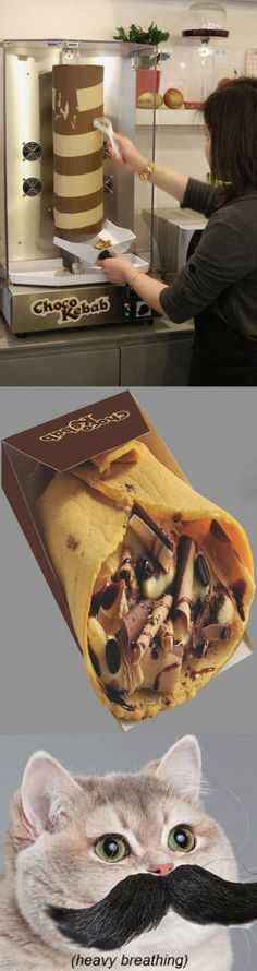 Chocolate Kebab - Why is this not installed as standard in homes? Haha. I so need one of those!