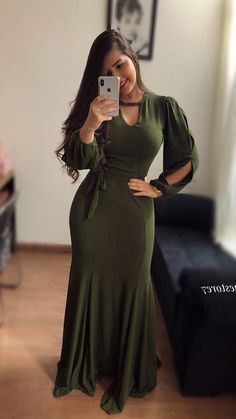 Prom Dresses With Sleeves, Simple Dresses, Elegant Dresses, Beautiful Dresses, Casual Dresses, Cute Dresses, Trend Fashion, Fashion Wear, Modest Fashion