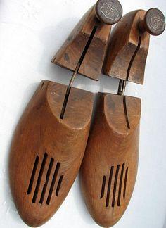 Items similar to Vintage Shoe Forms Wooden Pair on Etsy Primitive Antiques, Vintage Antiques, Vintage Shoes, Retro Vintage, Leather Men, Leather Shoes, Shoe Shine Box, Shoe Cobbler, Shoe Molding