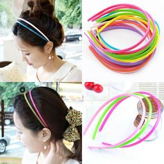 Hot Selling 1pcs 31 Color curled feather feather padded headband For decoration