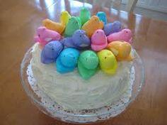 rainbow chick cake