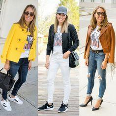 Today's Everyday Fashion: Graphic Tee, 3 Ways   J's Everyday Fashion   Bloglovin'