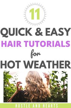 Styling your hair in hot weather can be a real pain. Not only does long hair make you even hotter, you also might have frizzy hair, dry hair, or hair that you just can't be bothered to apply heat to. If this is you, you're going to love these quick hair tutorials. Not only are they quick, but they're also super easy hair tutorials that are ideally suited for hot weather, keeping your hair off your neck. If you're ready to try new hairstyles for hot weather, try these easy hair tutorials today