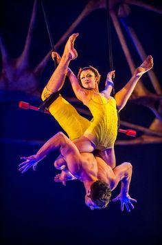 Sarah & Guilhem from Totem - lovebirds! My favorite static trapeze act so far! Aerial Acrobatics, Aerial Dance, Aerial Hoop, Aerial Arts, Aerial Silks, Show Dance, Just Dance, Dance Art, Art Du Cirque