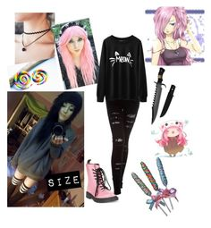 """""""Creepypasta OC"""" by just-mrs-radke-no-bigdeal154 ❤ liked on Polyvore featuring Dr. Martens and Nightcap"""