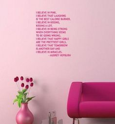 Google Image Result for http://www.freshdesignblog.com/wp-content/uploads/2011/07/audrey-hepburn-pink-quote-wall-sticker-277x300.jpg