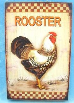Decorative Rooster Wall Plaque