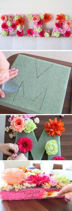 Eclectic decor flower letters DIY Baby Shower Decor Ideas For A Girl From Lu . - Eclectic decor flower letters DIY Baby Shower Decor Ideas For A Girl By Luz - Flower Letters, Diy Letters, Foam Letters, Wooden Letters, Diy Wedding Letters, Wall Letters Decor, Photo Letters, Baby Girl Shower Themes, Baby Girl Babyshower Themes