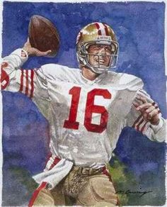 Joe Montana San Francisco by Merv Corning I have this card. Nfl Football Players, Football Art, Vintage Football, Football Helmets, Montana Football, 49ers Players, Football Posters, Football Uniforms, School Football