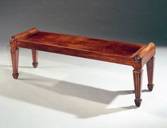A REGENCY MAHOGANY HALL BENCH - English Antique Furniture – Ronald Phillips Antique Dea...