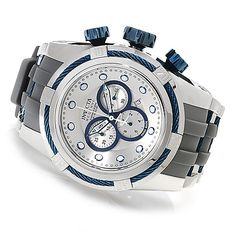623-299- Invicta Reserve 52mm Bolt Zeus Swiss Made Quartz Chronograph Polyurethane Strap Watch