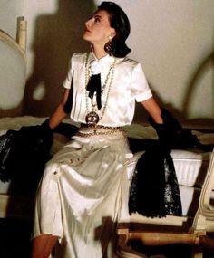 Inès de la Fressange CHANEL Haute Couture 1980 Une merveille!!