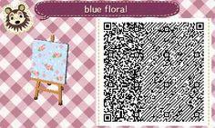 """mayor-kimmy: """" Blue floral design! """""""