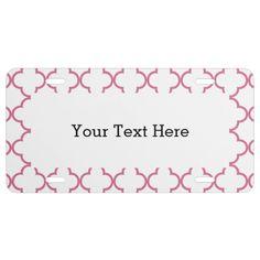 quatrefoil,pattern,quatrefoil+pattern,moroccan+pat license plate:  Personalize