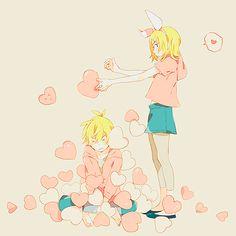 Vocaloid Rin and Len Kagamine <3 #adorable #anime