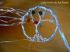 DIY: Family Tree Pendant (each branch could be the colour of family birthstones)