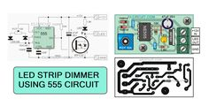 Circuit of dimmer high power LED strips
