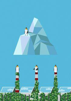 #penguin #antarctica #northpole #forest #tree #nature #environment #protect #illust #illustration #greenpeace #wwf #펭귄 #자연 #환경보호 #숲 #멸종위기종 #일러스트 Habitats, Wildlife, Illustration, Casual, Poster, Illustrations, Billboard