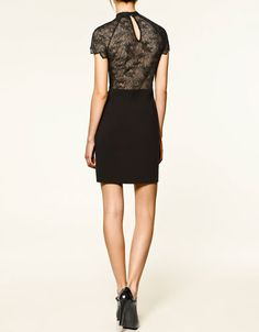Zara lace back dress.