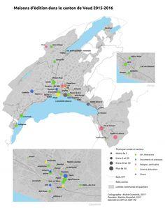 Maisons d'édition dans le canton de Vaud Vevey, Lausanne, Canton, Me On A Map, Diagram, Illustration, Art, Homes, Art Background