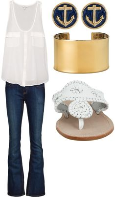 LOLO Moda: Fabulous women outfits - summer fashion 2013 Earrings look familiar. Looks Chic, Looks Style, Style Me, Street Mode, The Cardigans, Looks Jeans, Look Fashion, Womens Fashion, Fashion 2014