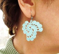 Tutorial Crochet Earrings Pattern,