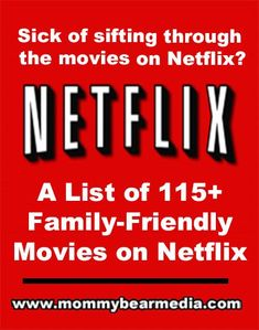 """""""We created this list of the best family-friendly and Christian movies on Netflix streaming so you can find a good Netflix movie."""""""